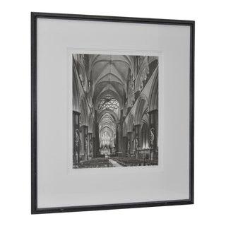 Salisbury Cathedral Interior B&W Photo by Askew