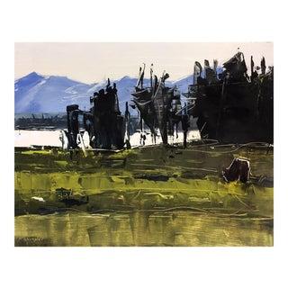 'Buffalo, Yellowstone, WY' Modern Painting