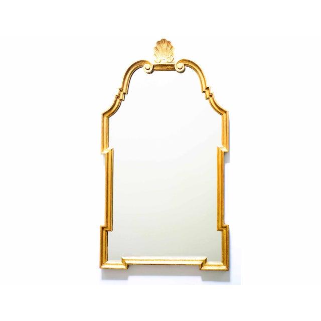 Image of Hollywood Regency Gilt Scroll Mirror