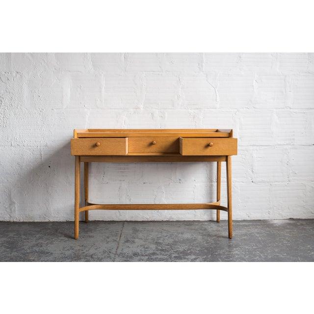 Heals Three Drawer Oak Vanity Desk - Image 5 of 8