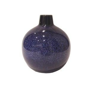 Cobalt Bulbous Ceramic Vase