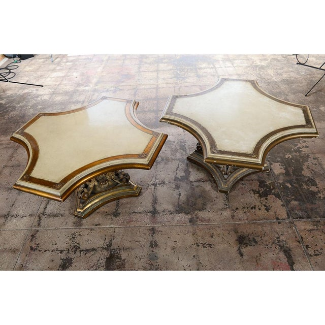 Venetian End Tables with Rococo Pedestals - A Pair - Image 2 of 11