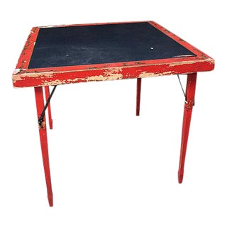 Red Asian Style Folding Table