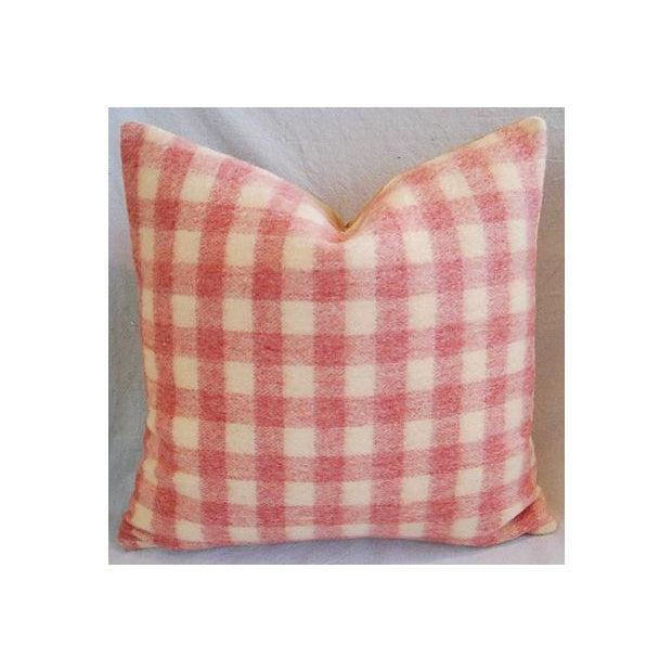 Custom Scottish Plaid Virgin Wool Pillows - A Pair - Image 3 of 8