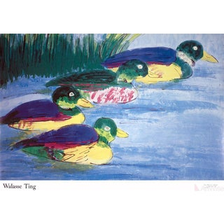 Walasse Ting, 4 Duck, 1990 Poster