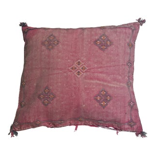 Pink Moroccan Stuffed Cactus Silk Pillow