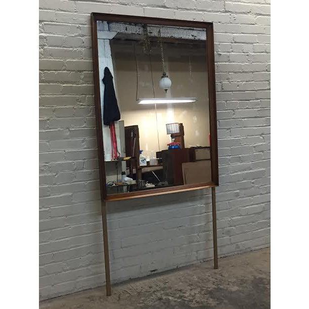 Walnut Mid-Century Modern Dresser & Mirror - Image 10 of 11