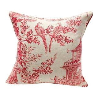 Pink Toile Pattern Pillow
