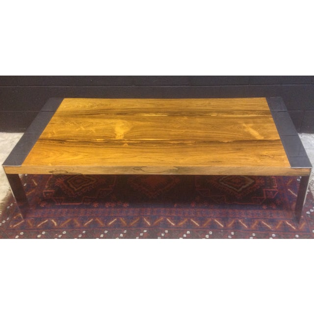 Milo Baughman Rosewood & Chrome Coffee Table - Image 2 of 8