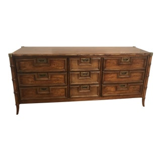 Stanley Hollywood Regency Faux Bamboo Dresser