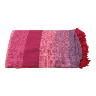 Pink Cotton Aztec Throw