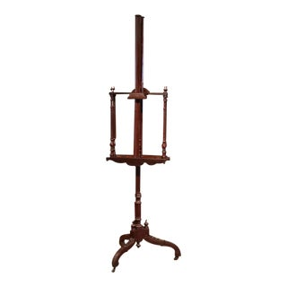 19th Century French Carved Walnut Two-Painting Easel