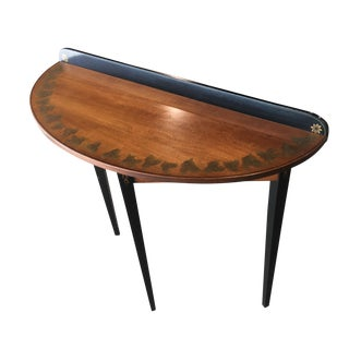 Hitchcock Black/Harvest Demilune Console Table