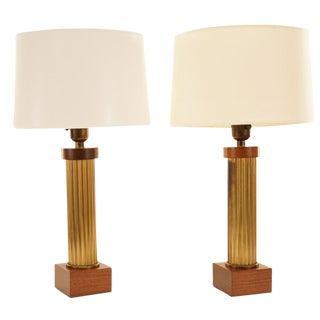 Brass Column Lamps