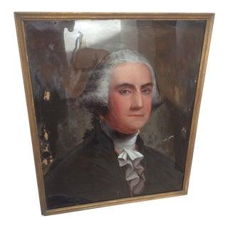 Reverse Painting on Glass of George Washington