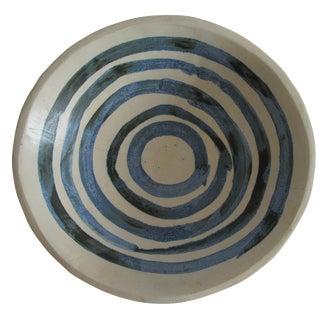 Concentric Circles Studio Pottery Bowl
