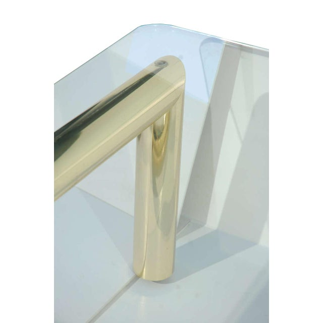 Pace Style Brass Tubular Coffee Table - Image 5 of 5