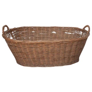Oval Vintage French Laundry Basket