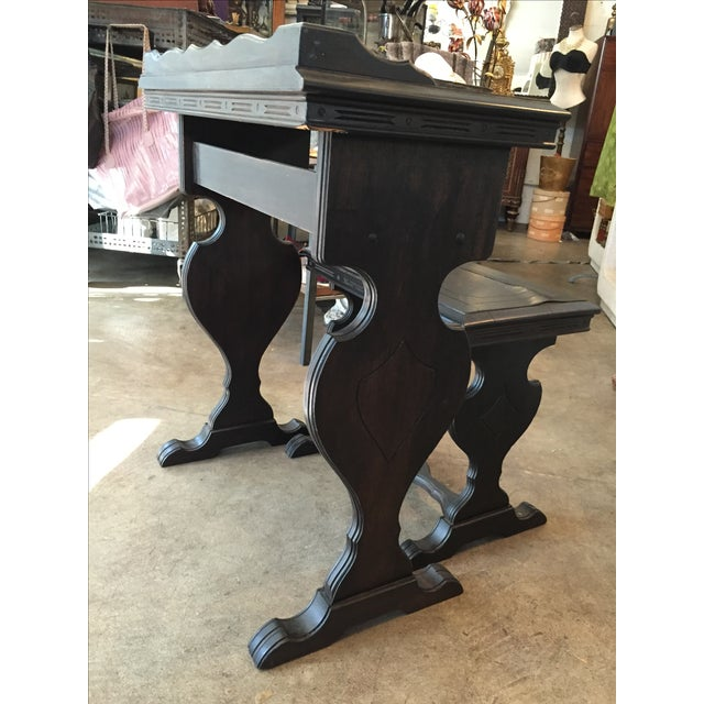 Vintage Writing Desk and Nesting Bench - Image 4 of 11