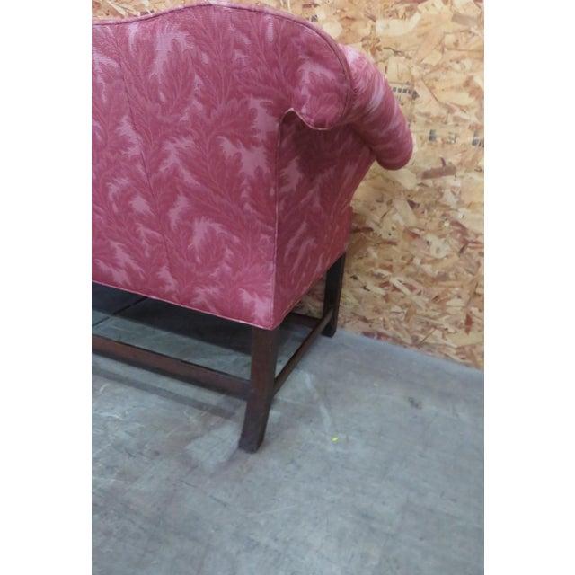 Antique Chippendale Camelback Marlboro Leg Sofa - Image 3 of 8