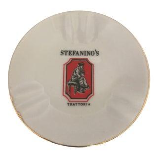 Stefanino's Trattoria Vintage Ceramic Ashtray