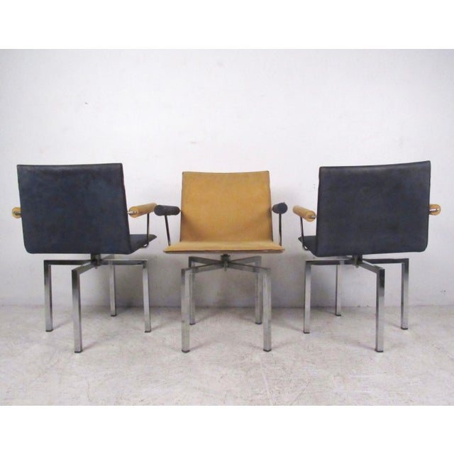 Modern Memphis Style Swivel Dining Chairs - Set of 6 - Image 5 of 11
