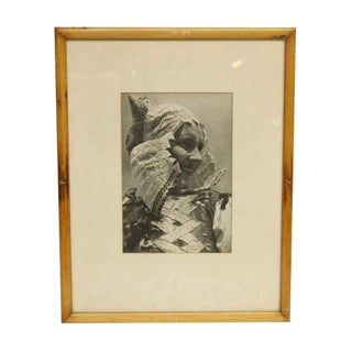 Framed Woman in Costume Photograph