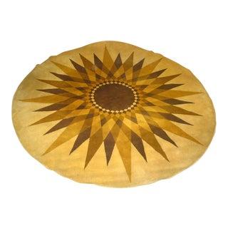 "Large Circular Danish ""Sunburst"" Carpet by Hojer Eksport Wilton"