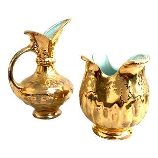 24 Kt. Gold Vases - Set of 2