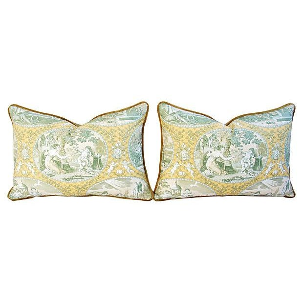 Italian Scalamandre Cupido Toile Pillows - A Pair - Image 6 of 6