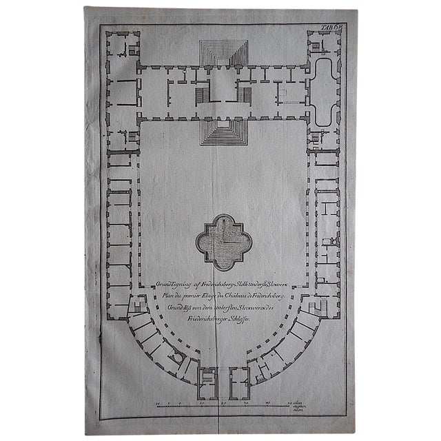 Antique Engraving Palace Floorplan Lg. Folio - Image 1 of 3