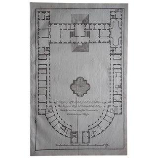 Antique Engraving Palace Floorplan Lg. Folio
