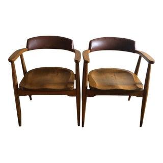 Mid-Century Modern Danish Armchairs - A Pair