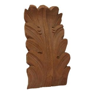 Carved Teak Wood Acanthus Leaf Bracket