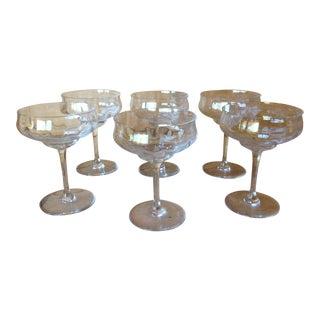 Baccarat Optic Capri Coupe Champagne Glasses - S/6