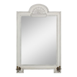 Vintage Gustavian Style Mirror With Candle Arms