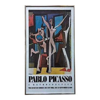 Vintage Picasso Exhibition Poster - Three Dancers