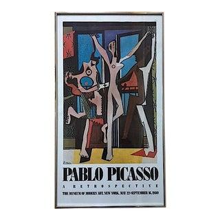 Vintage Picasso Exhibition Poster - Three Dancers