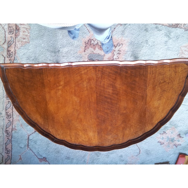 19th Century Cherry Wood Demilune Table - Image 4 of 6