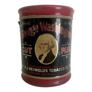 """George Washington Cut Plug R.J. Reynolds"" Tobacco Tin"