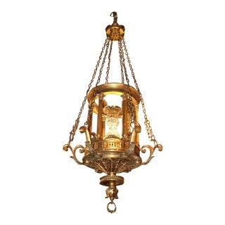 Antique Chandelier. Lantern Chandelier, circa 1900