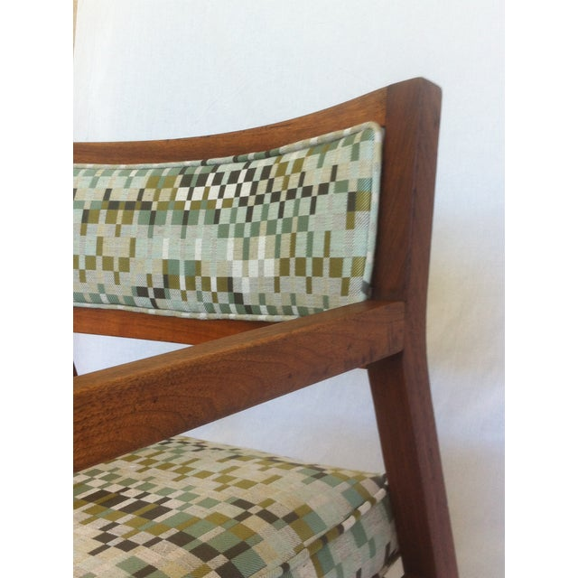 Mid-Century Walnut Upholstered Armchairs - A Pair - Image 5 of 7