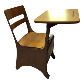 Antique Child's School Desk & Chair