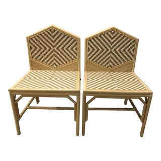 Justina Rattan Dining Chairs - A Pair