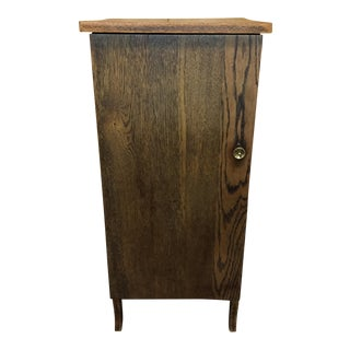 Vintage Oak Record Cabinet