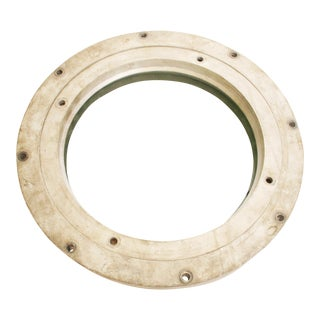 Vintage Industrial Round Brass Porthole Window
