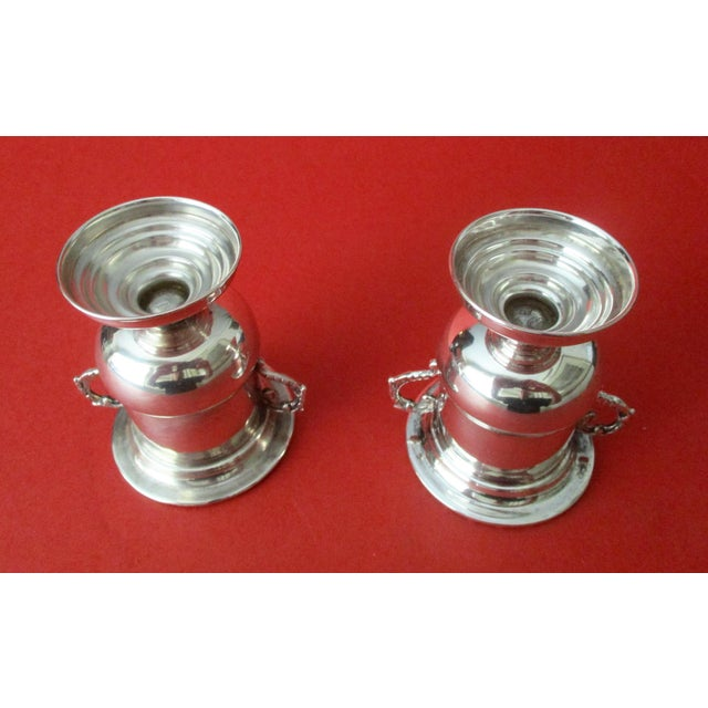 Traditional Antique 900 Silver Mini-Urns - A Pair - Image 6 of 6