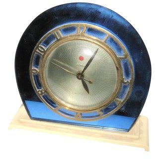1930s Blue Mirror Telectron Electric Clock