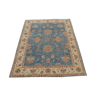 Pakistani Hand-Knotted Wool Rug - 4′11″ × 6′3″