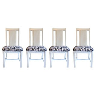Cane Back Dining Chairs - Set of 4